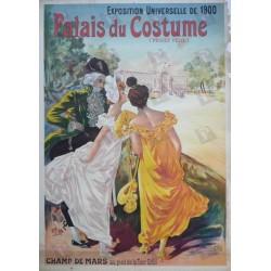 Original vintage poster Palais du costume Exposition universelle 1900 Projet Felix - LEM