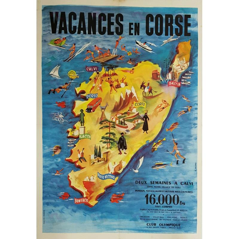 Original vintage poster Vacances en Corse