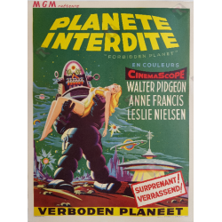 Original vintage cinema poster scifi Forbidden planet 1956