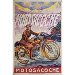 Affiche ancienne originale Motosacoche Fritayre