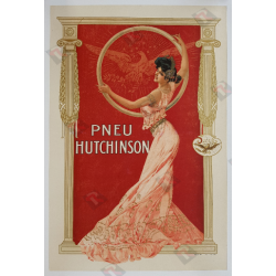Affiche ancienne originale Pneu Hutchinson