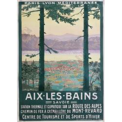 Affiche ancienne originale Aix les Bains Geo DORIVAL