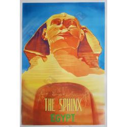Affiche ancienne originale The Sphinx Egypt 1957