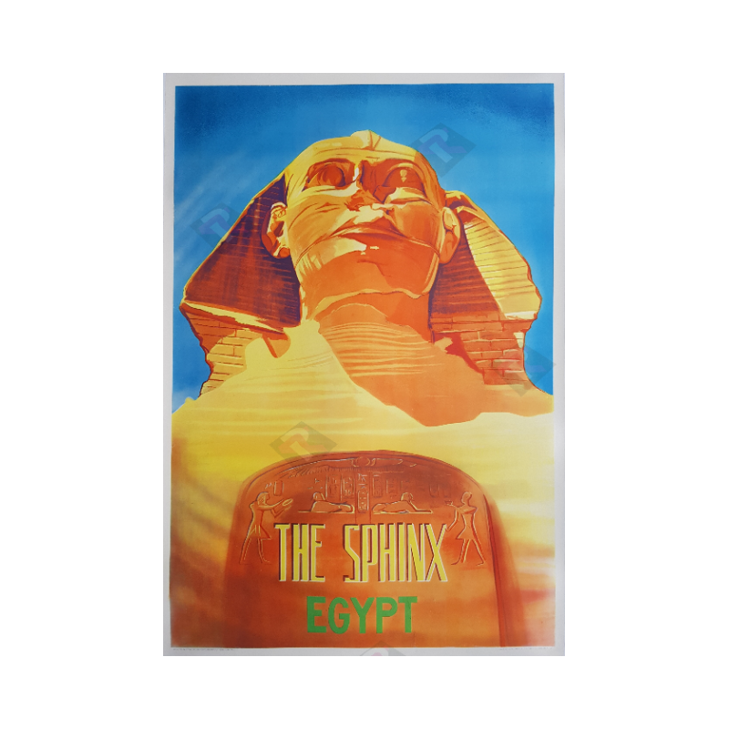 Affiche ancienne originale The Sphinx Egypt 1957