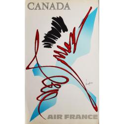 Original vintage poster Air France Canada - Georges MATHIEU