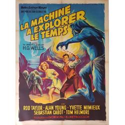 Affiche ancienne originale cinéma La machine à explorer le temps