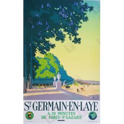 Original vintage poster Saint Germain en Laye Pierre COMMARMOND