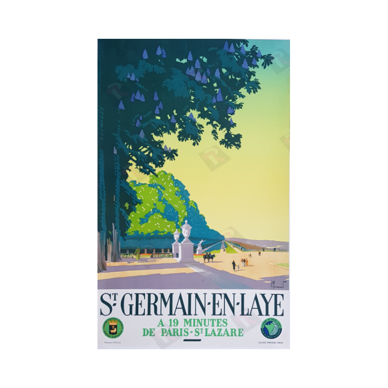 Affiche ancienne originale Saint Germain en Laye Pierre COMMARMOND