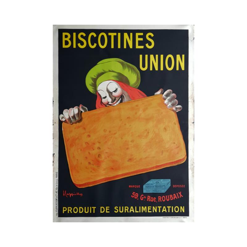 Affiche ancienne originale Biscotines Union - Leonetto Cappiello