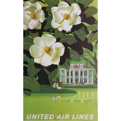 Original vintage poster United Airlines New Orleans Stan GALLI
