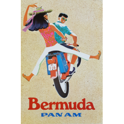Original vintage poster Pan Am Bermuda ZDINAK
