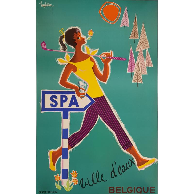 Original vintage poster Spa ville d'eaux Belgique
