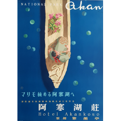 Original vintage poster National Park AKAN KURIYAGAWA