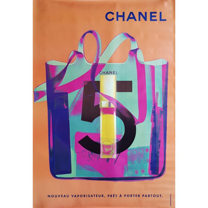 Original poster Chanel no 5 bag spray orange 67 x 47 inches