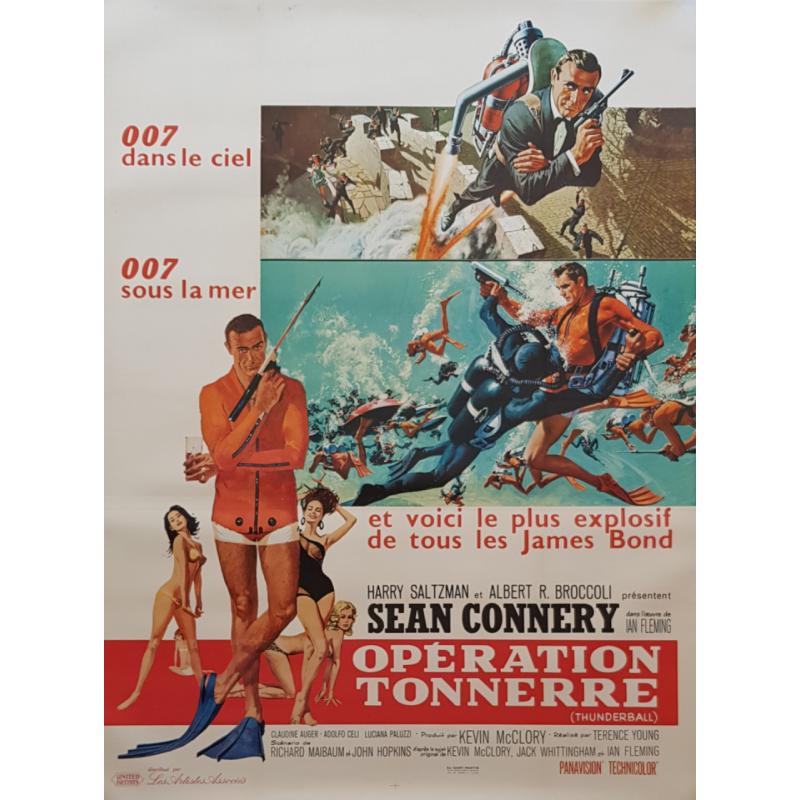 Affiche ancienne originale James Bond Opération tonnerre