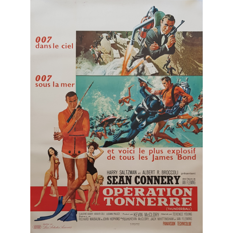 Original vintage poster James Bond Thunderball French