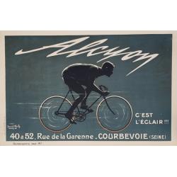 Affiche ancienne originale Alcyon c'est l'éclair Marcel BLOCH