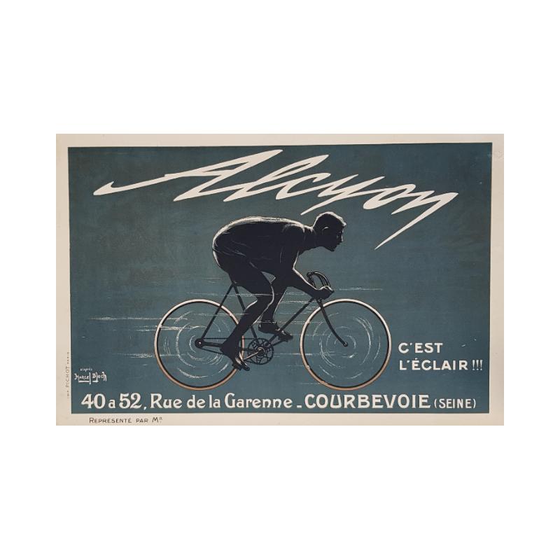 Original vintage poster Alcyon c'est l'éclair Marcel BLOCH