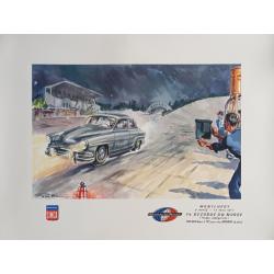 Affiche ancienne originale Simca Aronde Montlhery 1957 Geo HAM