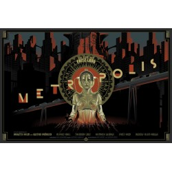 Affiche originale édition limitée Metropolis Laurent DURIEUX Dark Hall Mansion