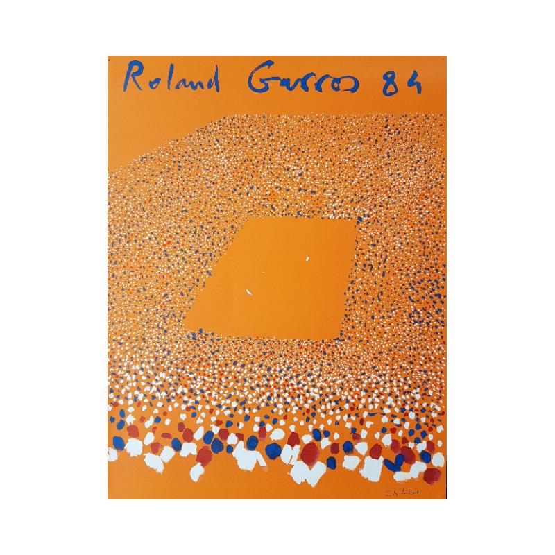 Original vintage poster Tennis Roland Garros 1984 Gilles AILLAUD