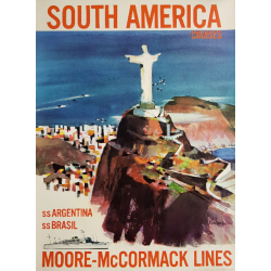 Original vintage poster South America Moore McCormack Lines