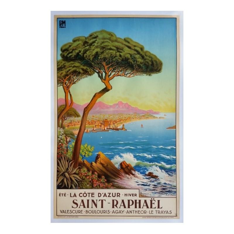 Original vintage poster Saint-Raphael La cote d'azur - Tom Morel De Tanguy