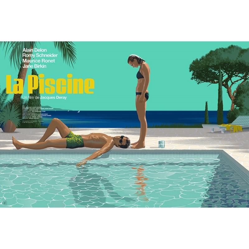 Original silkscreened poster limited variant La Piscine Laurent DURIEUX Nautilus Artprints