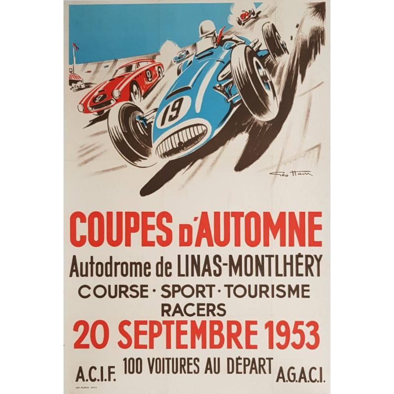 Original vintage poster Coupes d'Automne Linas Montlhéry Geo HAM
