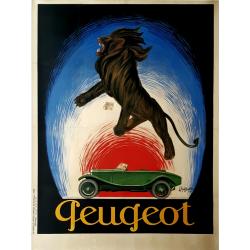 Affiche ancienne originale Peugeot 1925 Leonetto Cappiello