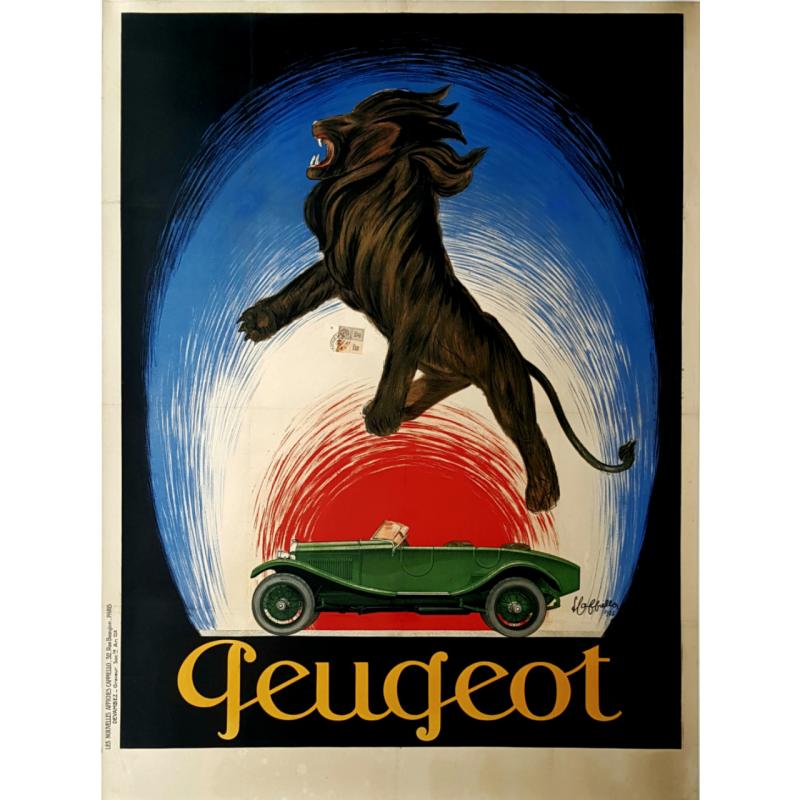 Original vintage poster Peugeot 1925 Leonetto Cappiello