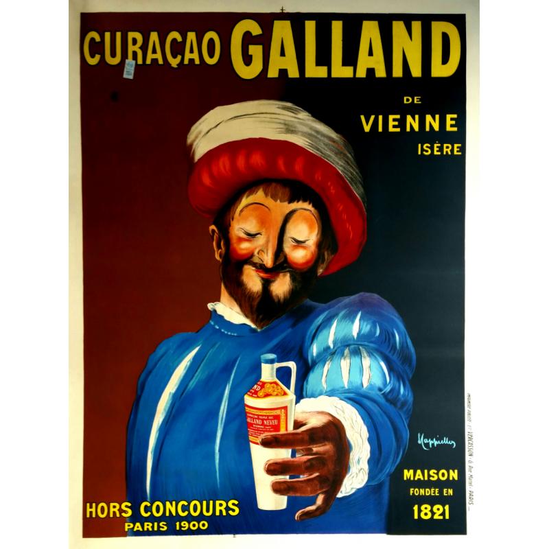 Affiche ancienne originale Curaçao GALLAND Leonetto CAPPIELLO