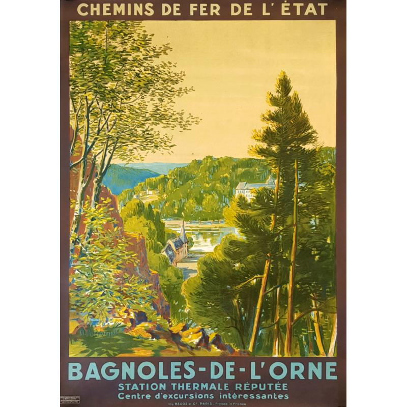 Original vintage poster Bagnoles de l'Orne Maurice PERRONNET