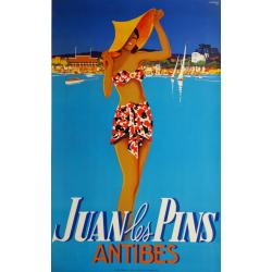 Original vintage poster Juan les Pins Antibes - 1937 - Robert FALCUCCI