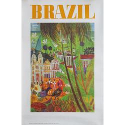 Affiche ancienne originale BRAZIL CHAPMAN 1963