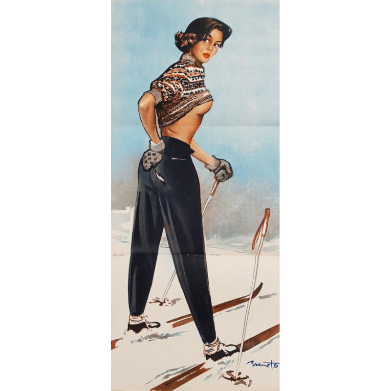 Original vintage poster a glance back Pierre Laurent BRENOT