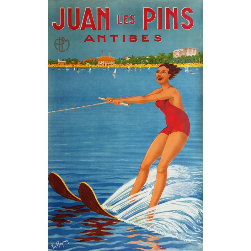 Original vintage poster PLM Juan les Pins Antibes - 1930s - RAYMON Victor