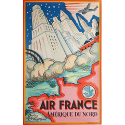 Original vintage poster North America 1946 Guy ARNOUX