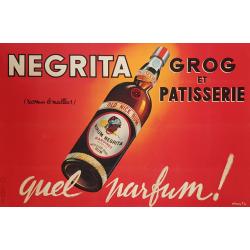 Original vintage poster Rhum Negrita Quel Parfum Ets Vasselais