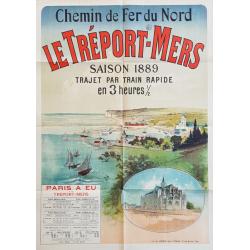 Original vintage poster Le Tréport-Mers 1889 Jules CHERET