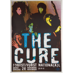 Affiche ancienne originale The Cure Forest National 1985