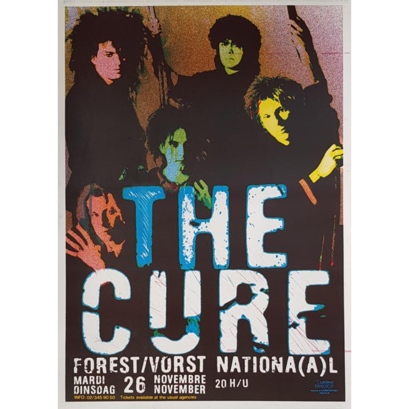 Original vintage poster The Cure Forest National 1985
