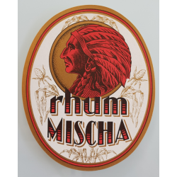 Original vintage label Rhum Mischa