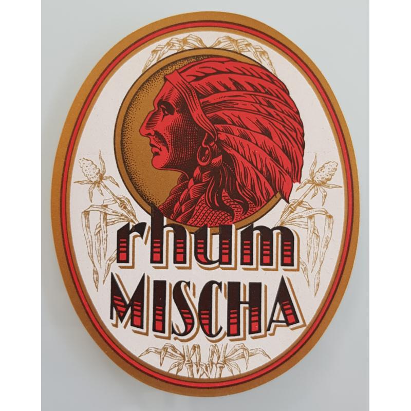 Etiquette ancienne originale Rhum Mischa