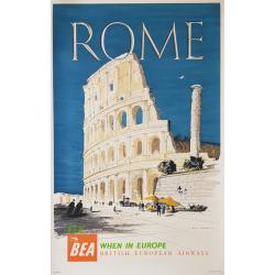 Original vintage poster BEA Rome 1955 CASSON Hugh