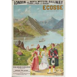 Original vintage poster Ecosse, Loch Coruisk Skye, London and North western railway