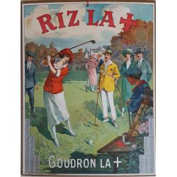 Calendrier ancien original golf Riz la croix année 1924