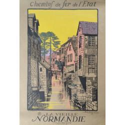 Original vintage poster La vieille Normandie - Geo DORIVAL