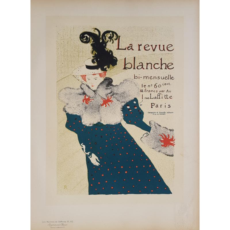 Maîtres de l'Affiche Original PLate 82 La Revue Blanche TOULOUSE LAUTREC