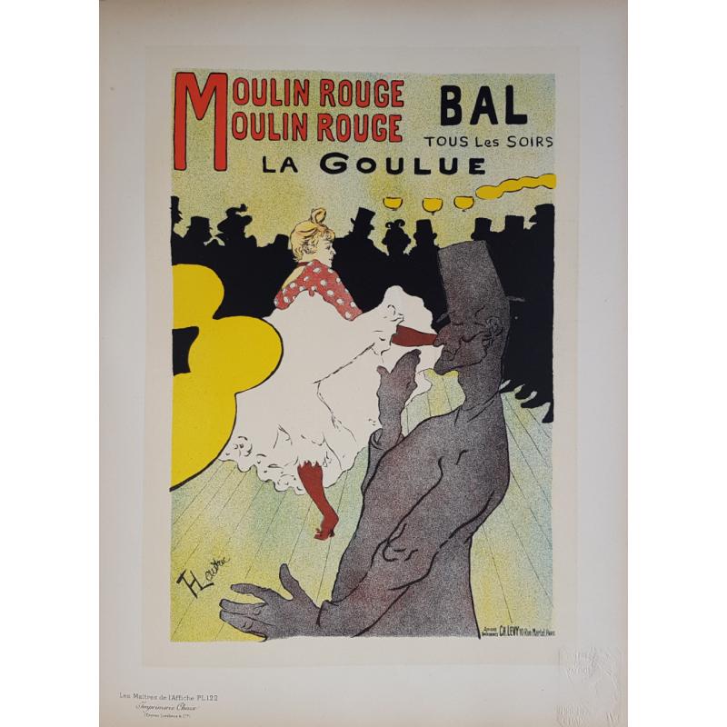 Maîtres de l'Affiche Planche originiale 122 Moulin Rouge La Goulue TOULOUSE LAUTREC